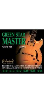 GrSM010 Green Star Master Heavy Комплект струн для электрогитары, нерж. сплав, 10-46, Fedosov